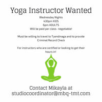 Yoga Instructor Wanted