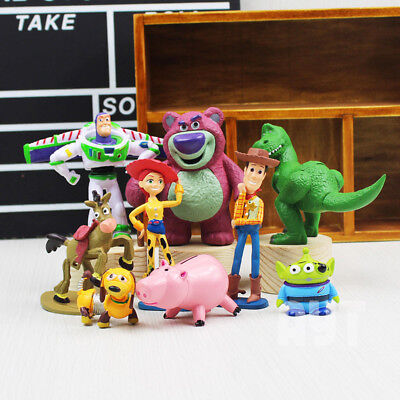 9Pcs Toy Story 3 Action Figures Doll Woody Buzz Lightyear Rex Toy For Kids - Woody Lightyear