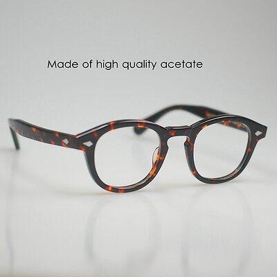 Retro Vintage Johnny Depp Eyeglasses mens Tortoise shell RX optical eyewear 49mm