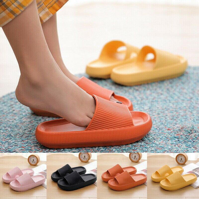 Women Pillow Slides Sandals Ultra-Soft Slippers Extra Soft Cloud Shoes Anti-Slip