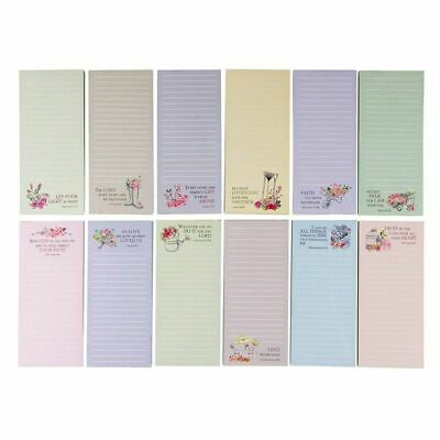 """12-Pack to-do-List Magnetic Notepad, 12 Designs, 55 Sheets Per Pad 2.75"""" x 6.25"""""""