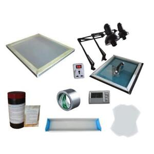 Screen Printing Plate Making Kit Exposure Unit with stretched Screen 006960