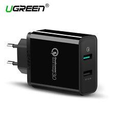 Ugreen USB Chargeur mural Adaptateur Secteur USB 2 Ports 30W pour Samsung HTC LG