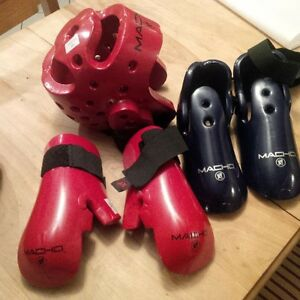 Child's Karate Sparring Equipment used 6 months