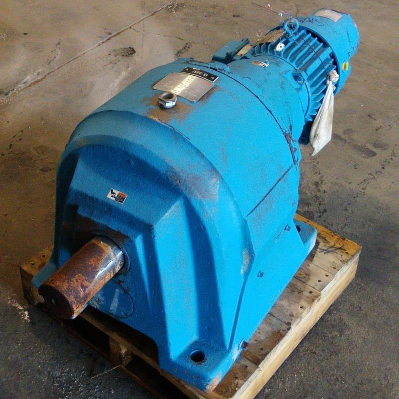 LINK-BELT 130:1 RATIO IN-LINE HELICAL GEAR SPEED REDUCER SIZE ETI / 9258-681-MM