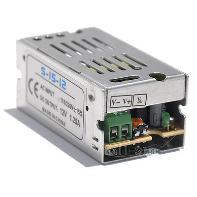 DC 12V 1.25A Regulated Switching Power Supply Swich Driver Voltage Transformer (1.25a Power Supply)