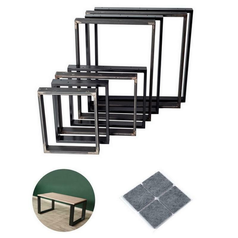 Tischkufen Tischbeine Tischfüße Tischkufe Tischgestell 60 x 20 mm Stahl 1 Stück