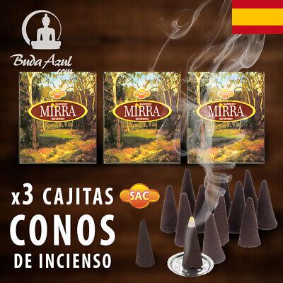 CONOS MIRRA INCIENSO SAC X 3 CAJAS CONO INDIO AROMA FRAGANCIA DE...