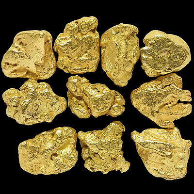 10 Pieces Alaska Natural Gold Nuggets - (#309b)