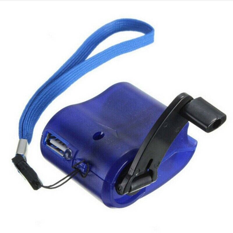 usb sos hand crank phone charger camping