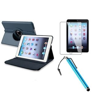 For New iPad 4 4G Gen 3 3rd 2 360 Rotating Magnetic Leather PU Case Smart Cover
