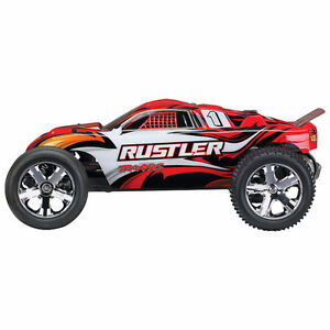 New Traxxas Rustler 2WD 1/10 Scale RC Truck - Red(BNIB)