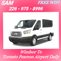 {WINDSOR >> TORONTO AIRPORT (YYZ) DAILY At 6-AM}~(226-975-8996)
