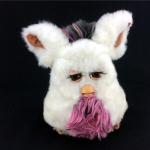 Furby Doll 2005 White Pink Large Version Big Moving Feet Works