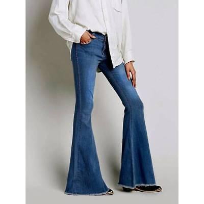 Women Unseen Denim Jeans Bell Bottom Fashion Pant Slim Mid-Rise Jeans - Women's Bell Bottom Jeans