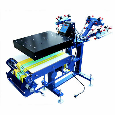 Multi-function 3 Color Screen Printing Ribbon Press Printer With Rotary Dryer