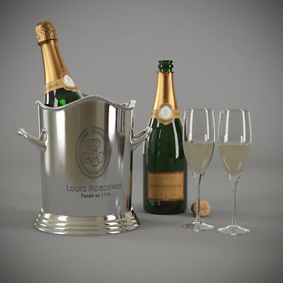 - Wine/Champagne Ice Bucket~Silver Plated~Wine Cooler~bar equipment~catering