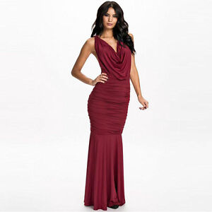 Red Evening Gown Small Mermaid sexy Halter elegant Large