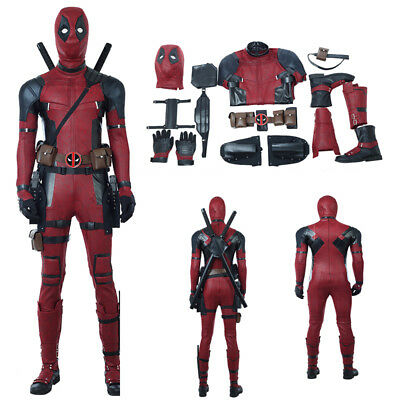 2018 New Movie Deadpool 2 Cosplay Costume Jumpsuit Shoes Halloween Suit Any Size - Deadpool Womens Costume