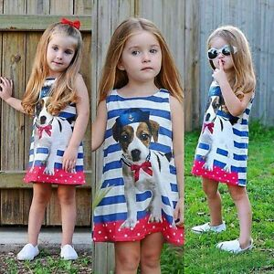 JACK RUSSEL PUPPY GIRL DRESS, children