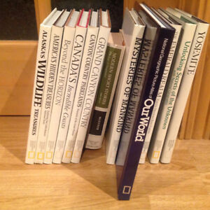 Livres : 12 National Geographic Society et un roman anglophone