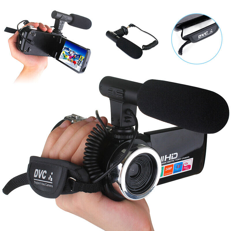 DIGITAL+CAMERA+1080P+VIDEO+18X+ZOOM+24MP+DV+CAMCORDER+RECORDER+WITH+MICROPHONE