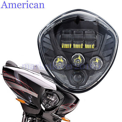 60W LED HEADLIGHT HILO BEAM FOR <em>VICTORY</em> <em>CROSS COUNTRY TOUR</em> BALL VEGAS