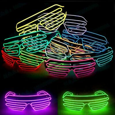 LED Light Up Sunglasses Clubbing EL Glasses Glow Costume Rave Cosplay Party  - El Costumes