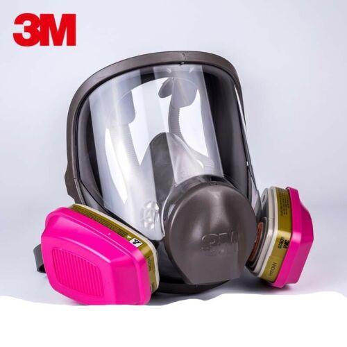 3M 6800 Full Face Respirator W/1 PR 60926 P1OO Multi Gas/Vapor Cartridge MEDIUM