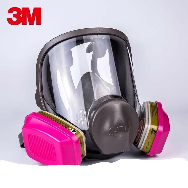 3M 6700 Full Face Respirator W/1 PR 60926 P1OO Multi Gas/Vapor Cartridge SMALL Business & Industrial