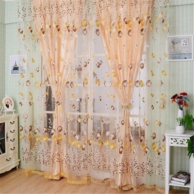 Tulip Tassel - Floral Curtain Tulip Flower Sheer Window Beads Tassel Delicate Drapes Home Decor