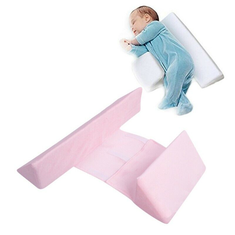 Infant Baby Side Sleep Pillow Support Wedge Adjustable Anti-roll Newborn Cushion