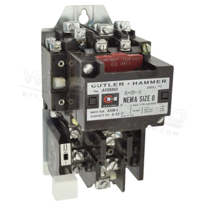 A10AG0 Cutler Hammer 600V 9A Series A1 A Motor Control Motor Starter