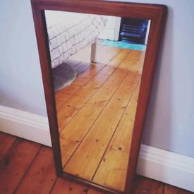 Vintage Mid Century Teak Mirror. Fully Restored