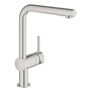 Grohe 30300DC0 Minta Single Handle Pull Out Kitchen Faucet Super