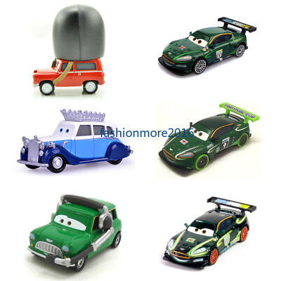 Cars 2 Toys Lightning McQueen UK Racers the Queen Metal Toy Car 1:55 Loose New - Car 2 Toys