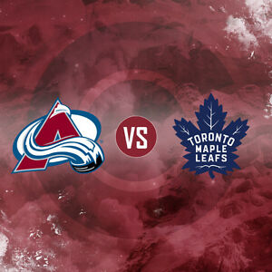 Maple Leafs/Colorado Avalanche - Dec 11, GOLD TIX -section 120