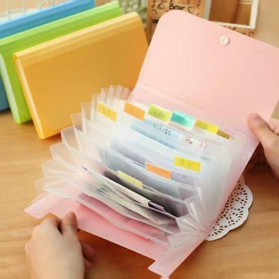 Plastic Document Bag A6 File Holder Zipper Bags Paper Organizer Office Storage