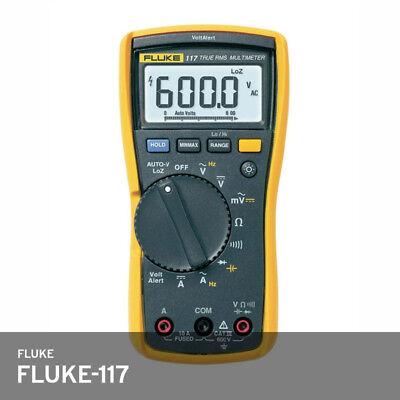 Fluke 117 Electricians True Rms Multimeter Autovolt Led 10a Cat3 600v 10a Fedex