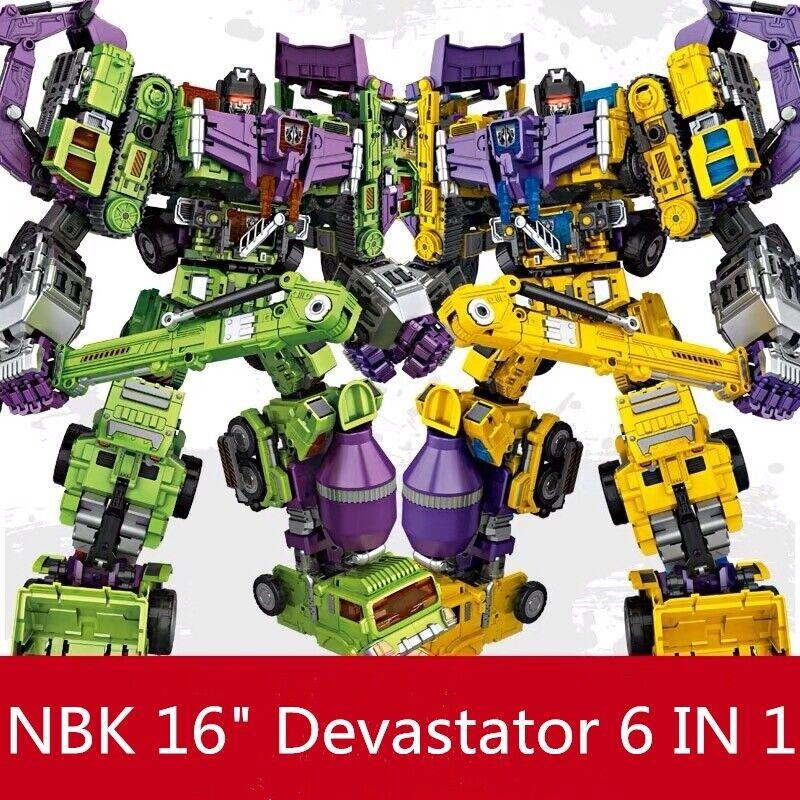 Transformers Devastator 6 In 1 Action Figure NBK GT Cool Kid Toy in Stock 38cm