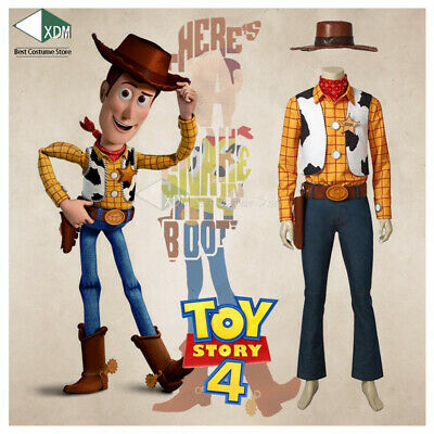 New Film Toy Story 4 Cosplay Costume Halloween Woody Cowboy New Uniform - Films Halloween Disney