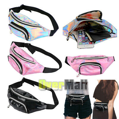 Party Fanny Pack ( Iridescent Rainbow Holographic Fanny Pack - Party Rave Festival Waist Belt)