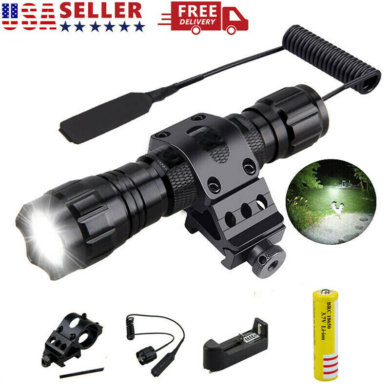 Hunting Warrior Flashlight LED White Light Coyote Hog Varmint Predator Gun Rifle