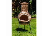 Small Terracotta Chiminea - New + FREE Local Delivery