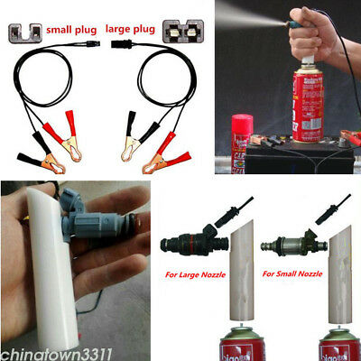 (DIY Car Fuel Injector Flush Cleaner Adapter Kit Set Vehicle Cleaners Tool)