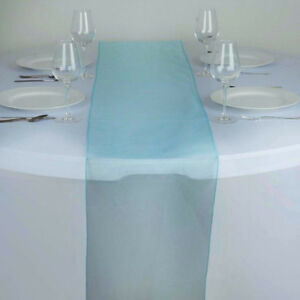 Sheer TURQUOISE Organza Table Runners -  NEW