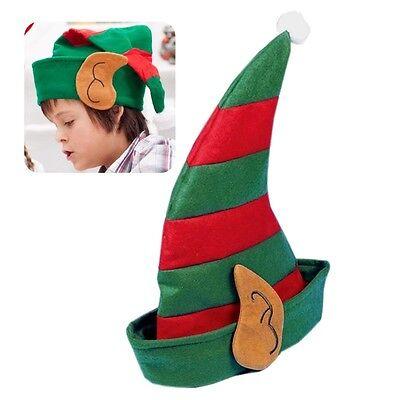 CHILDS CHRISTMAS ELF HAT GROTTO FANCY DRESS SANTA HELPER XMAS STOCKING FILLER