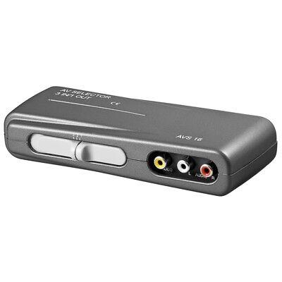 Chinch Cinch Cinc AV Verteiler Splitter Umschalter Umschaltbox Switch 3 IN 1 OUT - Video Splitter Box