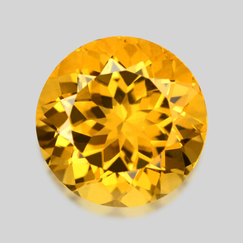 1.88cts CALIBRATED 8MM ROUND CUT AAA GOLDEN YELLOW HELIODOR BERYL WATCH VIDEO