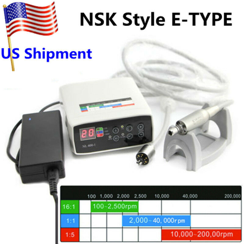 NSK NL400 Type Electric Motor Dental Internal Spray 1:5 Handpiece Contra Angle